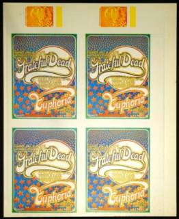 Original Uncut Sheet of Handbills and Tickets