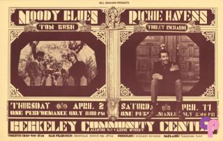 Berkeley Community Theater 4/2 and 4/11/70