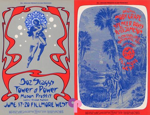 BOZ SCAGGS ORIGINAL 1971 BILL GRAHAM BG-285 ROCK CONCERT POSTCARD FILLMORE