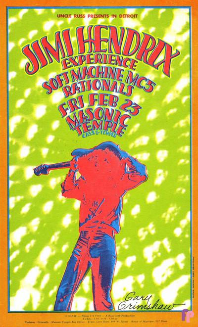 Masonic Temple, Detroit MI 2/23/68 - Classic Posters