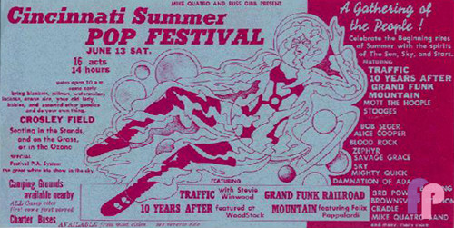 Cincinnati Summer Pop Festival, Crosley Field 6/13/70