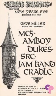 Grande Ballroom 12/31/70