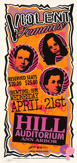 Hill Auditorium, Ann Arbor, MI 4/21/99