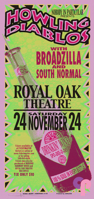 Royal Oak Music Theatre, Royal Oak, MI 11/24/01