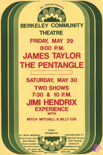 Berkeley Community Theater 5/29/ & 30/70