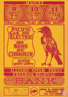 The Bank, Torrance, CA 8/9-11/68