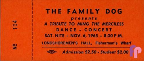 Longshoreman's Hall 11/6/65