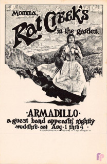 Armadillo World Headquarters, Austin, TX 8/1-4/73