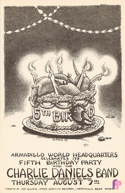 Armadillo World Headquarters, Austin, TX 8/7/75