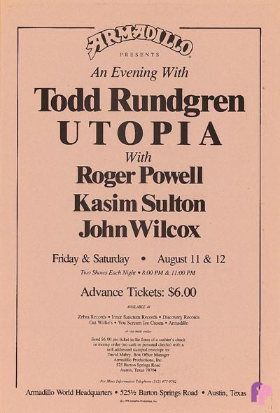 Armadillo World Headquarters, Austin, TX 8/11-12/78