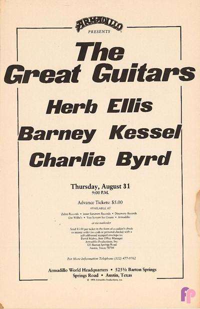Armadillo World Headquarters, Austin, TX 8/31/78