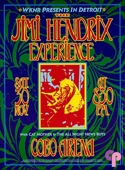 Cobo Arena, Detroit, MI 11/30/68