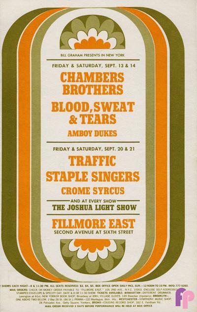 Fillmore East 9/13-14, 9/20-21/68