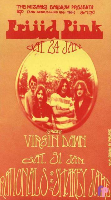 The Wizard's Eardrum Ypsilanti, MI 1/24 & 1/31/70